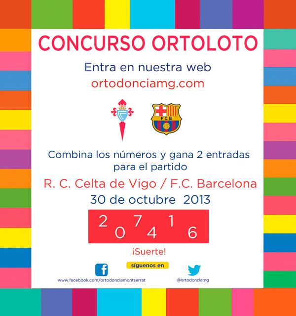 Concurso Ortoloto Celta Barça 2013