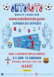 Concurso Ortoloto: Gana 2 entradas para el R.C. Celta – F.C. Barcelona